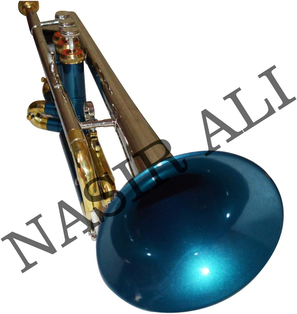 NEW TRUMPET Bb Be super welcome PITCH GREEN NICKEL BY Dedication ALI NASIR