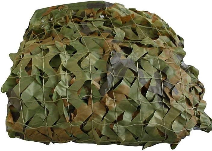 Filet de camouflage parasol multi-usage Filet de camouflage jungle Filet de décoration de camping vert décoré de 2x3m (taille  7 x 8 m) Bache AI LI WEI (Taille   3x6M)