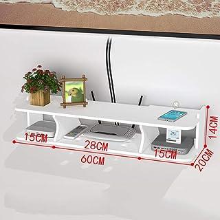 SHPEHP Estante Flotante Blanco Estante Flotante Estante de Pared para gabinete de TV Estante para Reproductor de DVDBLU-R...