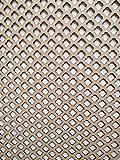 LaserKris K6 - Rejilla decorativa para radiador, panel de tablero DM perforado (4X2)