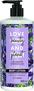 Love Beauty & Planet Soothe and Serene Body Lotion with Argan Oil and Lavender Aroma, 400 ml