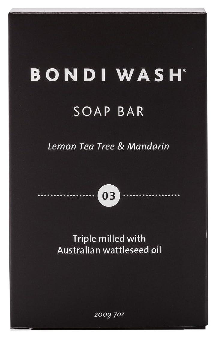 リクルート人種収益BONDI WASH ソープバー(固形石鹸) レモンティーツリー&マンダリン 200g