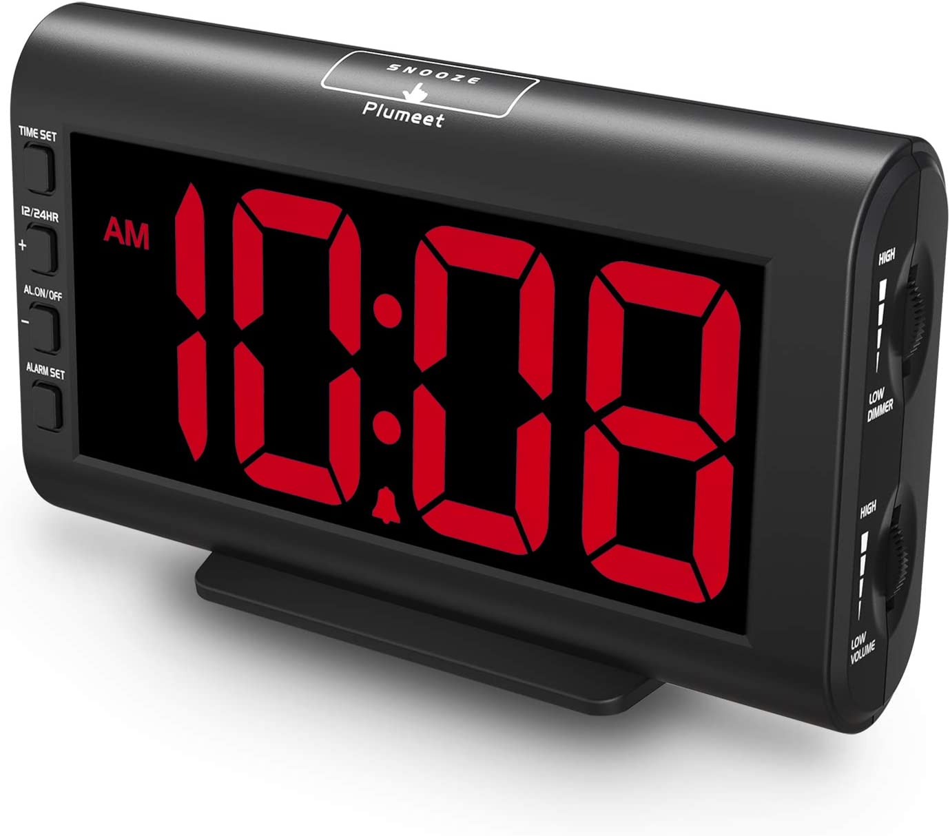 Plumeet Digital Alarm Clocks 5.3'' Special price for a limited time LED Max 69% OFF Large Adjustable Screen