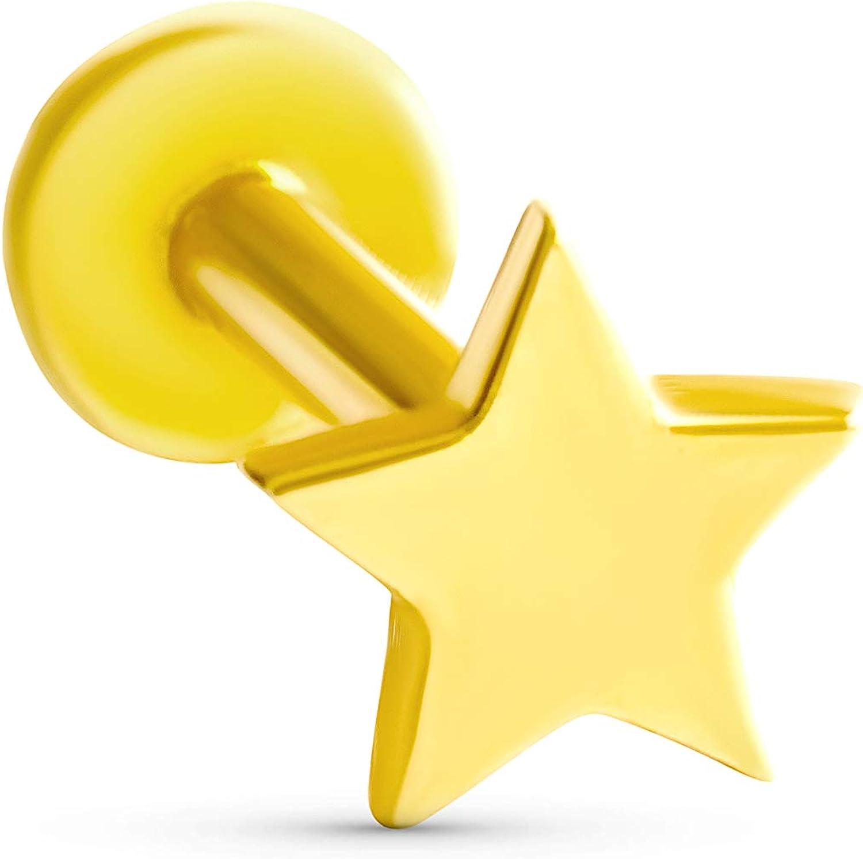 ONDAISY 14K Real All items free shipping Yellow Las Vegas Mall Gold Solid Thunder Flash Cute Minimalist