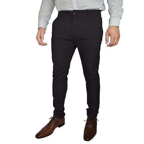 22c03fba987 Mens Stretch Chino Trousers Designer Slim Fit Jeans Pant Cotton Spandex  Bottom