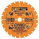CMT 271.165.24H Lama Circolare Itk-Plus per Taglio Lungo e Traverso Vena, Arancio