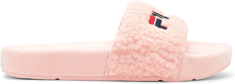 Fila Direct sale of manufacturer Los Angeles Mall Women's Fuzzy Sandal Slide