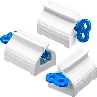 Chengu 3 Pièces Dentifrice à Tube Roulant Presse-Dentifrice Support de Siège Pivoter Distributeur de Dentifrice pour Salle...