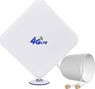 4G LTE Antenne 35dBi SMA Stecker(Male) Dual Mimo Antenna SMA mit 2m Kabel für 4G LTE WiFi Router Mobiles Hotspots Huawei B525, B715, Vodafone, Telekom Speedport LTE, Speedbox LTE, O2, FritzBox LTE