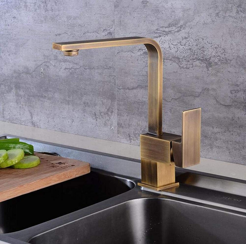 Badezimmer Küche Warmes Und Kaltes Wasser Rustikaler Heier Und Kalter Küchenhahn Drehwaschbeckenhahn