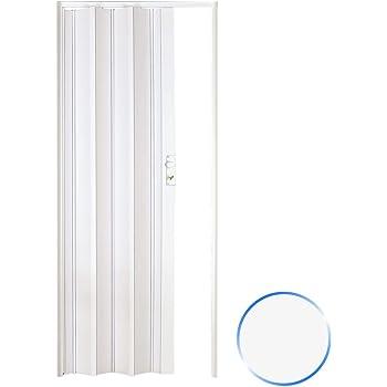 TecTake Puerta plegable de plástico 80 x 203 cm, PVC Puertas plegables, Puerta corredera - disponible en diferentes colores - (Blanco | no. 400957): Amazon.es: Bricolaje y herramientas