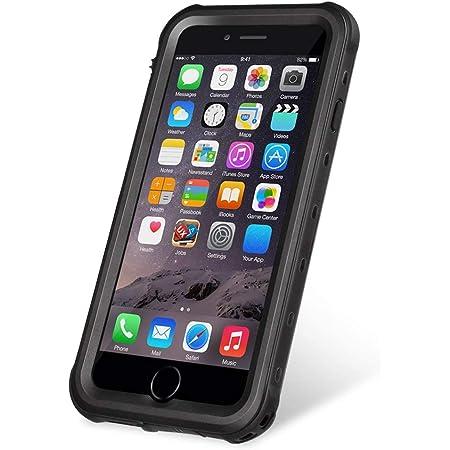 IPhone8 iPhone7 防水ケース DINGXIN 指紋認証対応 防水 防雪 防塵 耐震 耐衝撃 IP68防水規格 アイフォン8 フォンケース7 防水ケース 防水カバー ストラップホール付き (iPhone7/8, 4.7インチ, 黒)