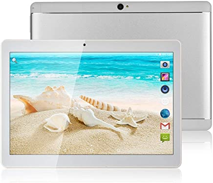 $85 Get Batai 10 inch Android Octa Core Tablet with Two Sim Card Slots Unlocked 3G Phone Call Phablet 4GB RAM 64GB ROM Tablet PC Built in WiFi and Camera GPS (Metallic Silver)