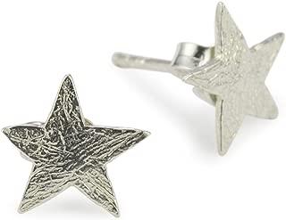 Women's Silver Small Star Stud Earrings