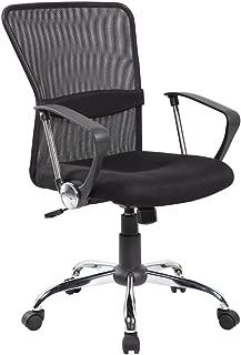 IFCO DECO AOC-8002-BK Modern Ergonomic Mesh Mid Back Executive Computer Desk Task Office Chair (Black)