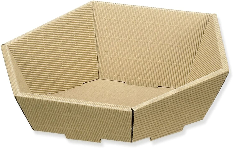 1 1 1 Verpackungseinheit (25 Stück) Präsentkörbebr  Modern 6-eckig -mittel-br  Fb. Naturbr  L 380 x B 340 x H 75 130 mm B009DI1C0C | Economy  d9aaa4