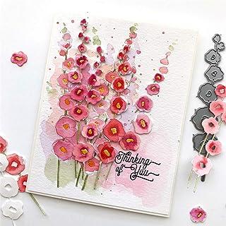 Muzhili3 Matrices de découpe en métal, motif fleur, pour scrapbooking, cartes, album photo, pochoir – Argent