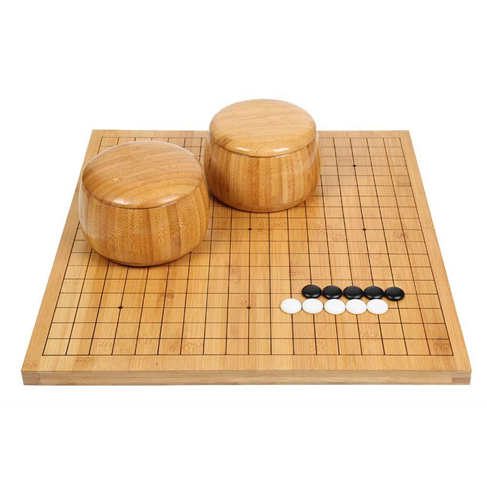 Quskto Go Juego de Mesa, Go Set con Reversible Bamboo Go Board e Incluye Bowls and