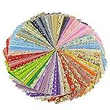 OgquatonPackung mit 50 Stoff Baumwolle Floral