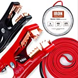 Iron Forge Tools Booster Cables in Carry Bag 8 Gauge 20 Foot 400 Amps