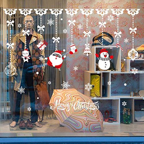 whmyz Anelli di Natale 60 * 90 cm Camera da Letto, Soggiorno, vetrine, Porte e finestre e Altri Adesivi murali Decorativi in PVC