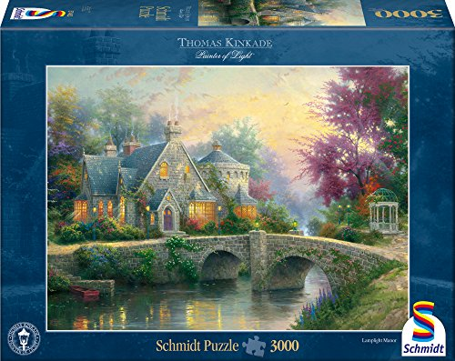 Schmidt Spiele Puzzle 57463 - Thomas Kinkade, Abendstimmung, 3000 Teile