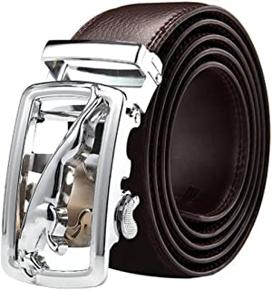 Cow leather Belts for Men Automatic Buckle Brown leather Belt Men