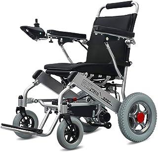 RDJM De Peso Ligero Plegable sillas de Ruedas eléctrica Inicio eléctrica sillón de Ruedas Mayor Inteligente Plegable Ligero automático Pequeña Silla de Ruedas eléctrica portátil