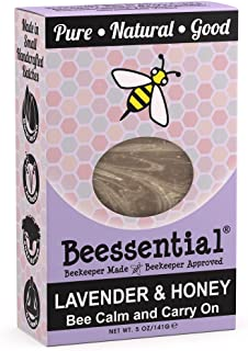 Beessential Relaxing Bar Soap, Lavender And Honey, 5 Ounce