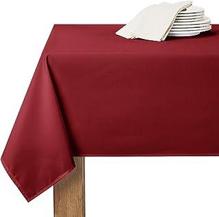 RYB HOME Nappe Anniversaire Fille - 150 x 260 cm, Rouge Bordeaux Decoration Noel Imperméable Anti-tâche pour Cuisine/Salle...