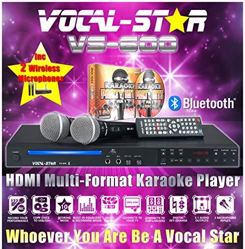 Karaoke-Maschine mit 2 kabellosen...