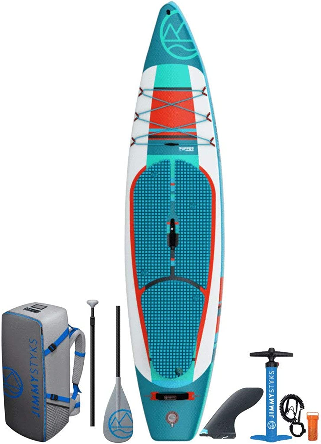 Jimmy Styks Inflatable Blow Up Stand Up SUP Puffer Paddle Board w  Pump and Bag