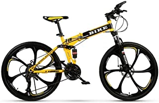 Novokart-Plegable Deportes/Bicicleta de montaña 24/26 Pulgadas 6 Cortador, Amarillo