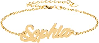 Personalized Name Bracelet Stainless Steel Jewelry Gifts for Womens Girls
