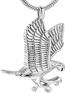 Jewelry Eagles Fly Alone urn Pendant Memorial Necklace Ashes