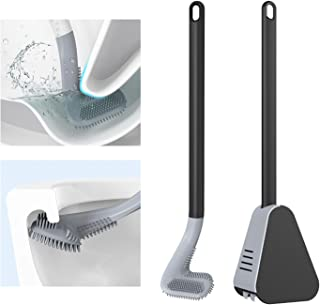 Segorts Brosse WC en Silicone Golf Long Handled Toilet Brush Brosses WC et Supports pour Salle de Bains