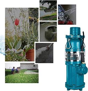 ZDYLM-Y Bomba de Agua Sumergible eléctrica, Flujo Grande, Bomba de riego de jardín agrícola de Gran elevación, Mango de Acero Inoxidable, Verde