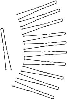 300 Pack Bun Hair Bobby Pins U Shaped Pin with Box Hair Grips to Clip Ballet Hair Net for Women Black (2.4 inch)