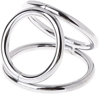 JINZHI Stainless Steel 3 Ring Clamps Clock Rings Men