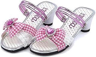 [ディーエイチパーティ] 女の子 キッズ 子供靴 運動靴 通学靴 ミュール サンダル ヒール 歩きやすい 疲れない 2WAY リボン付き カジュアル デイリー スポーツ スクール 学校 1837