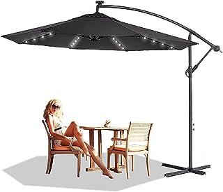 NAIZY Aluminium parasoller solskydd trädgårdsparaply höjd justerbar trafikljus med vev balkongskärm UV40 för balkong, träd...