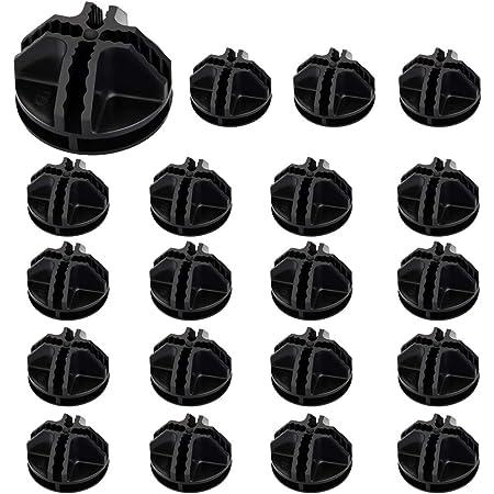 AFASOES 20 Pcs Connecteurs en Plastique Cube de Grille Connecteurs Organizer Connecteur Emboîtable Faciel a Utiliser pour Armoire Placard Meubles Maison - Noir