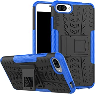 Asus ZenFone 4 Max ZC554KL Case, Linkertech [Shockproof] Tough Rugged Dual Layer Protector Hybrid Case Cover with Kickstand for Asus ZenFone 4 Max 5.5 Inch ZC554KL (Blue)