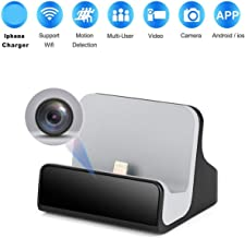 Hidden Nanny Camera iPhone Charger Dock Spy Cam with Night Vision for Home Security..