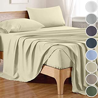 100% Bamboo Sheets Full Size (4 Pieces, 8 Colors) Bamboo Fitted Sheet,Bamboo Bed Sheets,Bamboo Sheet Set,Silky Soft Coolin...