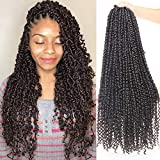 Xtrend 22inch Pre-twisted Passion Twist Hair 15Strand Crochet Braiding Hair Pre-looped Passion Twist Crochet Hair Extensions Bohemian Hair Style (1pack, 2#)
