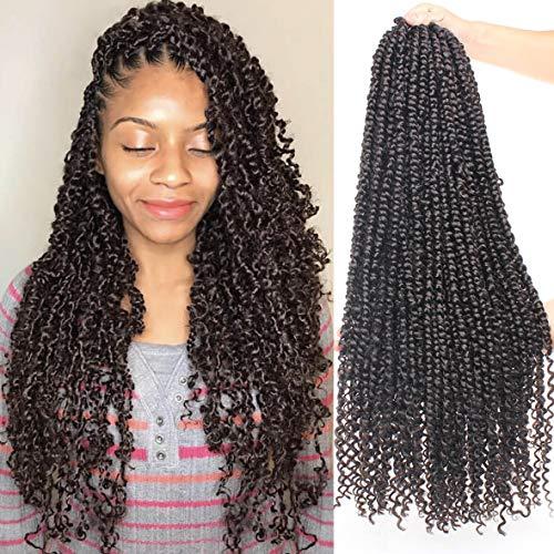 Xtrend Pré-torsion Passion Twist Cheveux 22 pouces Bohème Eau Vague Crochet Cheveux Bouclés 6 Packs 15 Brins / Pack Pré-bouclé Passion Twist Crochet Tresses Extensions de Cheveux 2 #