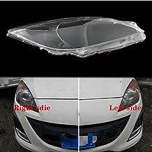 BYWWANG Para Mazda 3 2011-2014, Faros Delanteros Pantallas de lámparas Transparentes Carcasa de lámpara máscaras Faros Tapa de Lente Cristal de Faro