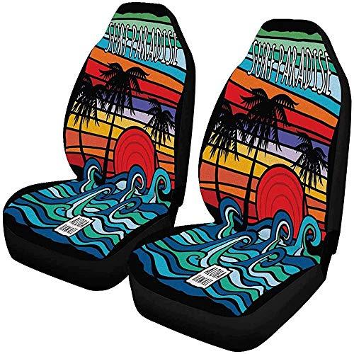 Enoqunt Hawaii Aloha Wave Graphic voorstoelhoezen autostoelhoezen voorstoelen passen
