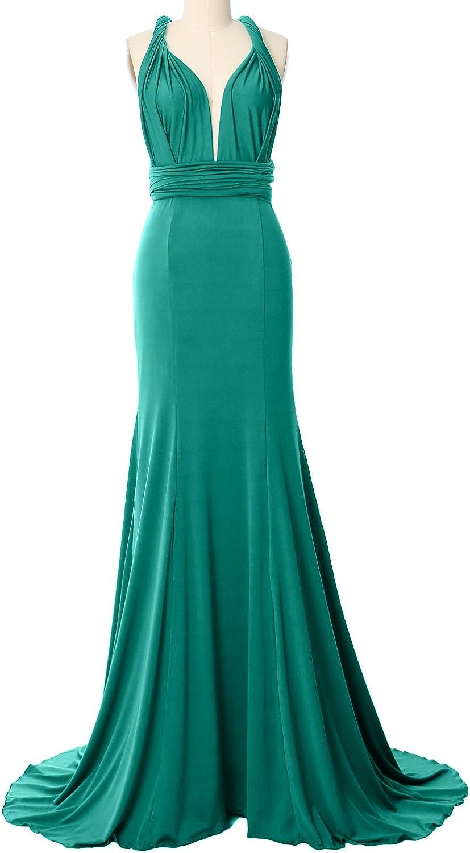 MACloth Congreenible Wrap Multi Way Bridesmaid Dress Maxi Evening Formal Gown